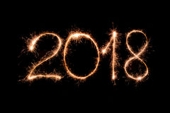 Gelukkig nieuw jaar 2018 stock fotografie