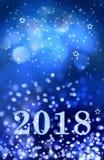 Gelukkig nieuw jaar 2018 Royalty-vrije Stock Foto