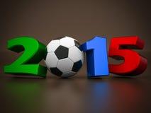 Gelukkig nieuw jaar 2015 3d Illustraties Stock Foto