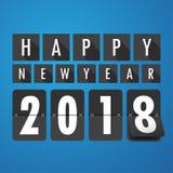 Gelukkig nieuw jaar 2018 De kaart van groeten Kleurrijk ontwerp Zieke vector Stock Afbeelding