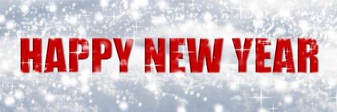 Gelukkig nieuw jaar in de sneeuw royalty-vrije illustratie