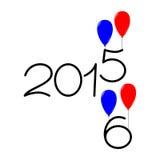 Gelukkig nieuw jaar de tekstontwerp van 2015 en van 2016 Stock Foto's