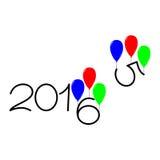 Gelukkig nieuw jaar de tekstontwerp van 2015 en van 2016 Stock Foto
