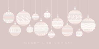 Gelukkig nieuw jaar en Kerstmispatroon royalty-vrije illustratie