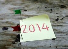 Gelukkig nieuw jaar 2014 en vrolijke Kerstmis Stock Foto