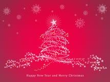 Gelukkig Nieuw jaar en vrolijke Kerstmis Stock Afbeeldingen