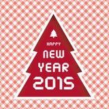 Gelukkig nieuw jaar 2015 het begroeten card15 Stock Fotografie