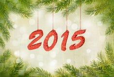 Gelukkig nieuw jaar 2015! Het nieuwe malplaatje van het jaarontwerp Stock Afbeelding