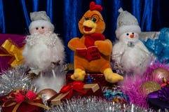 Gelukkig nieuw jaar, jaar van de Haan Royalty-vrije Stock Afbeelding
