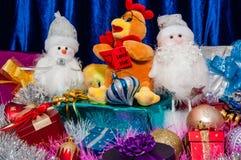 Gelukkig nieuw jaar, jaar van de Haan Stock Afbeelding
