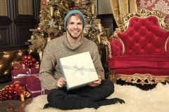 Gelukkig nieuw jaar, Kerstmis, vooravond, partij royalty-vrije stock afbeelding