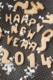 Gelukkig nieuw jaar 2014 koekje Royalty-vrije Stock Foto's