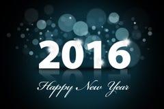 Gelukkig nieuw jaar 2016 met bokehachtergrond Stock Foto's