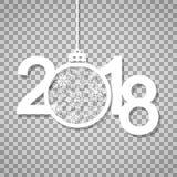 Gelukkig nieuw jaar 2018 Tekst, ontwerpelement Stock Afbeelding