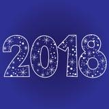 2018 Gelukkig nieuw jaar twee duizend achttien Stock Afbeeldingen