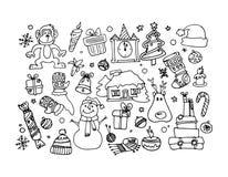 Gelukkig nieuw jaar, vectorillustratie Stock Afbeelding
