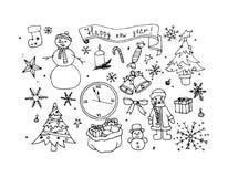 Gelukkig nieuw jaar, vectorillustratie Stock Afbeeldingen