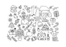 Gelukkig nieuw jaar, vectorillustratie Royalty-vrije Stock Afbeeldingen