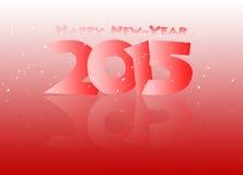Gelukkig nieuw jaar 2015 weerspiegeld in zwarte Royalty-vrije Stock Afbeelding