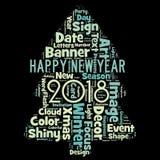Gelukkig nieuw jaar 2018 in wereld Royalty-vrije Stock Afbeeldingen