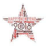 Gelukkig nieuw jaar 2018 in wereld Stock Foto's