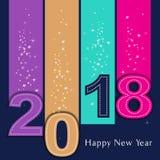 Gelukkig 2018 Nieuwjaar Vector Illustratie