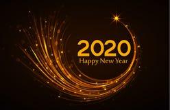 Gelukkig Nieuwjaar 2020 Stock Afbeeldingen