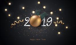 Gelukkig Nieuwjaar 2019 Royalty-vrije Stock Afbeelding