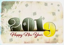 2019 Gelukkig Nieuwjaar Royalty-vrije Stock Afbeeldingen
