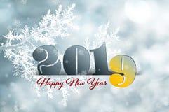 2019 Gelukkig Nieuwjaar Stock Fotografie