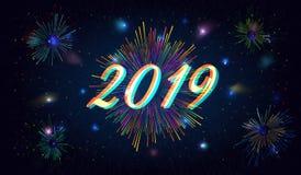 2019 Gelukkig Nieuwjaar Royalty-vrije Stock Foto