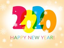 Gelukkig Nieuwjaar 2020 royalty-vrije illustratie