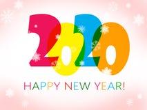 Gelukkig Nieuwjaar 2020 stock illustratie