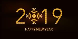 Gelukkig Nieuwjaar 2019 stock foto's