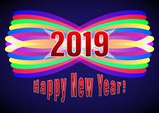 Gelukkig Nieuwjaar 2019 royalty-vrije illustratie