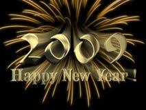 Gelukkig Nieuwjaar 2009 Royalty-vrije Illustratie