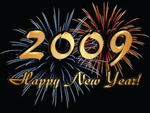 Gelukkig Nieuwjaar 2009 Stock Illustratie