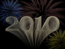Gelukkig Nieuwjaar 2010 Royalty-vrije Stock Afbeeldingen