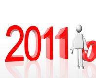 Gelukkig Nieuwjaar 2011 Royalty-vrije Stock Fotografie