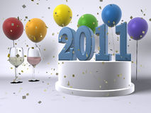 Gelukkig Nieuwjaar 2011 Stock Foto's