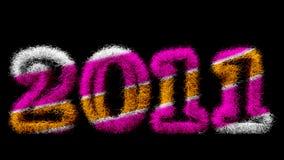 Gelukkig Nieuwjaar 2011 stock fotografie
