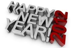Gelukkig Nieuwjaar! 2012 Stock Foto's