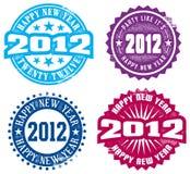 Gelukkig Nieuwjaar 2012 Stock Fotografie