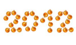 Gelukkig Nieuwjaar 2012 Stock Foto