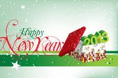 Gelukkig Nieuwjaar 2013 royalty-vrije illustratie
