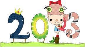 Gelukkig Nieuwjaar 2013 Royalty-vrije Stock Afbeeldingen