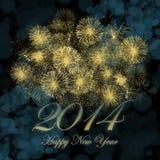 Gelukkig Nieuwjaar 2014 stock illustratie