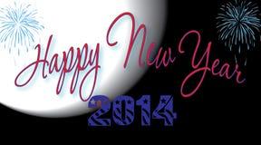 Gelukkig Nieuwjaar 2014 Royalty-vrije Stock Afbeeldingen