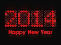 Gelukkig Nieuwjaar 2014 Stock Fotografie