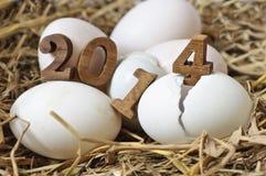 Gelukkig Nieuwjaar 2014 Stock Foto's